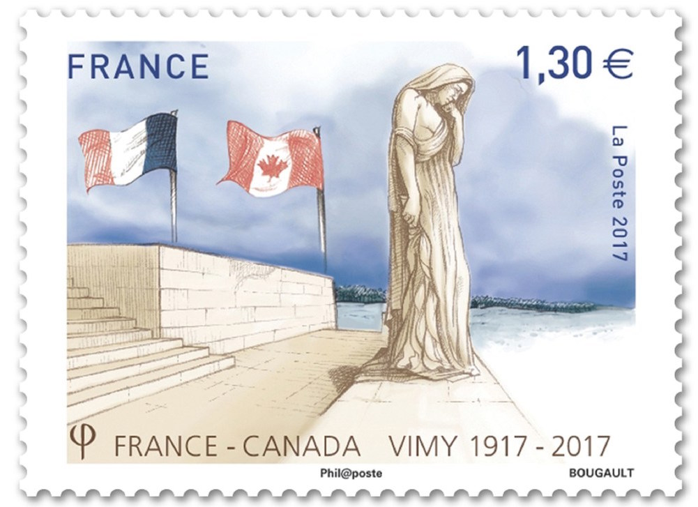 Vimy Ridge French Stamp