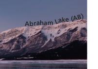 Abraham Lake Canada Stamp Microprint