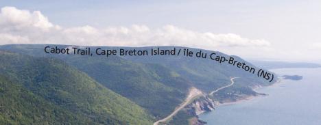 Cabot Trail, Cape Breton Island Microprint