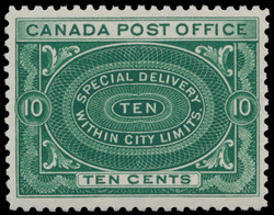 Special Delivery Stamp, Special Delivery within City Limits Canada Postage Stamp