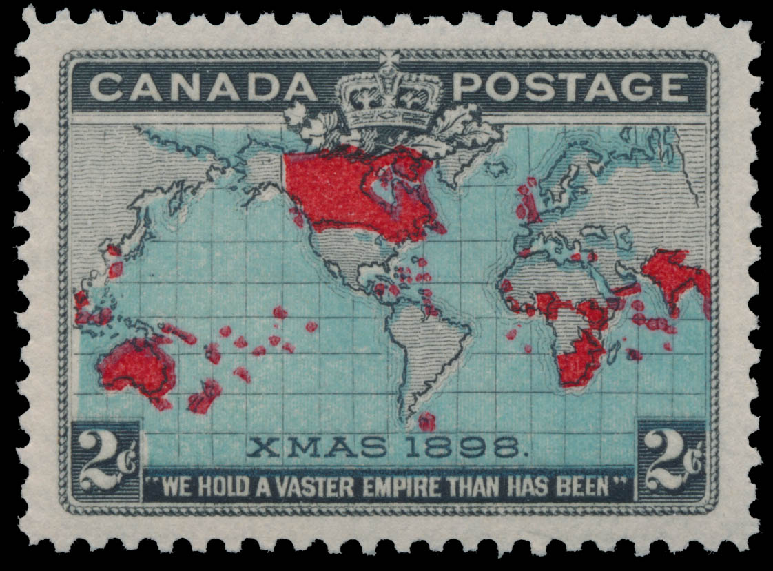 "Canadian Imperial Stamp, XMAS 1898, ""We hold a vaster Empire than has been"" Canada Postage Stamp"