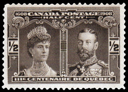 Prince & Princess of Wales Canada Postage Stamp | Tercentenary