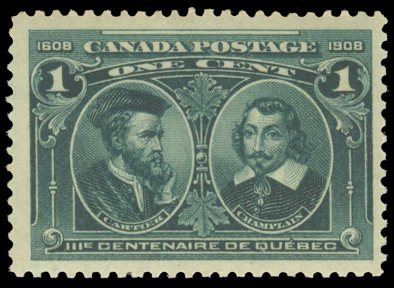 Cartier & Champlain Canada Postage Stamp