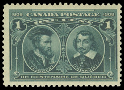 Cartier & Champlain Canada Postage Stamp | Tercentenary