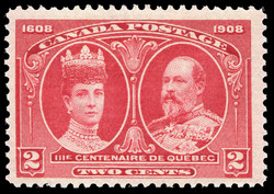King Edward VII & Queen Alexandra Canada Postage Stamp | Tercentenary
