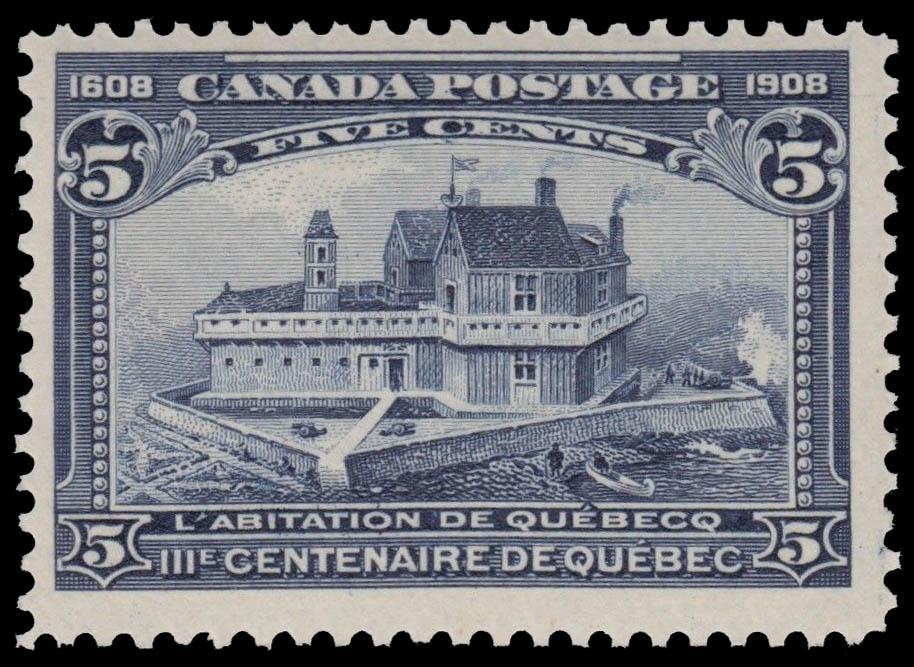 Champlain's Habitation - L'Abitation de Quebecq Canada Postage Stamp