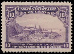 "Quebec in 1700 - ""Lower Town"" Canada Postage Stamp 