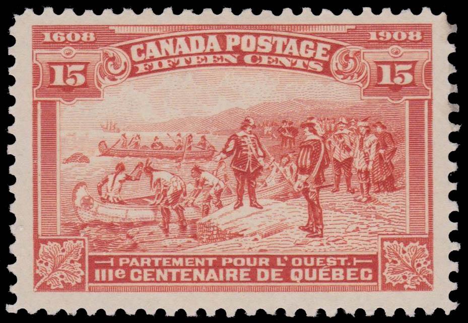 Champlain's Departure West (Partement pour l'ouest) Canada Postage Stamp | Tercentenary