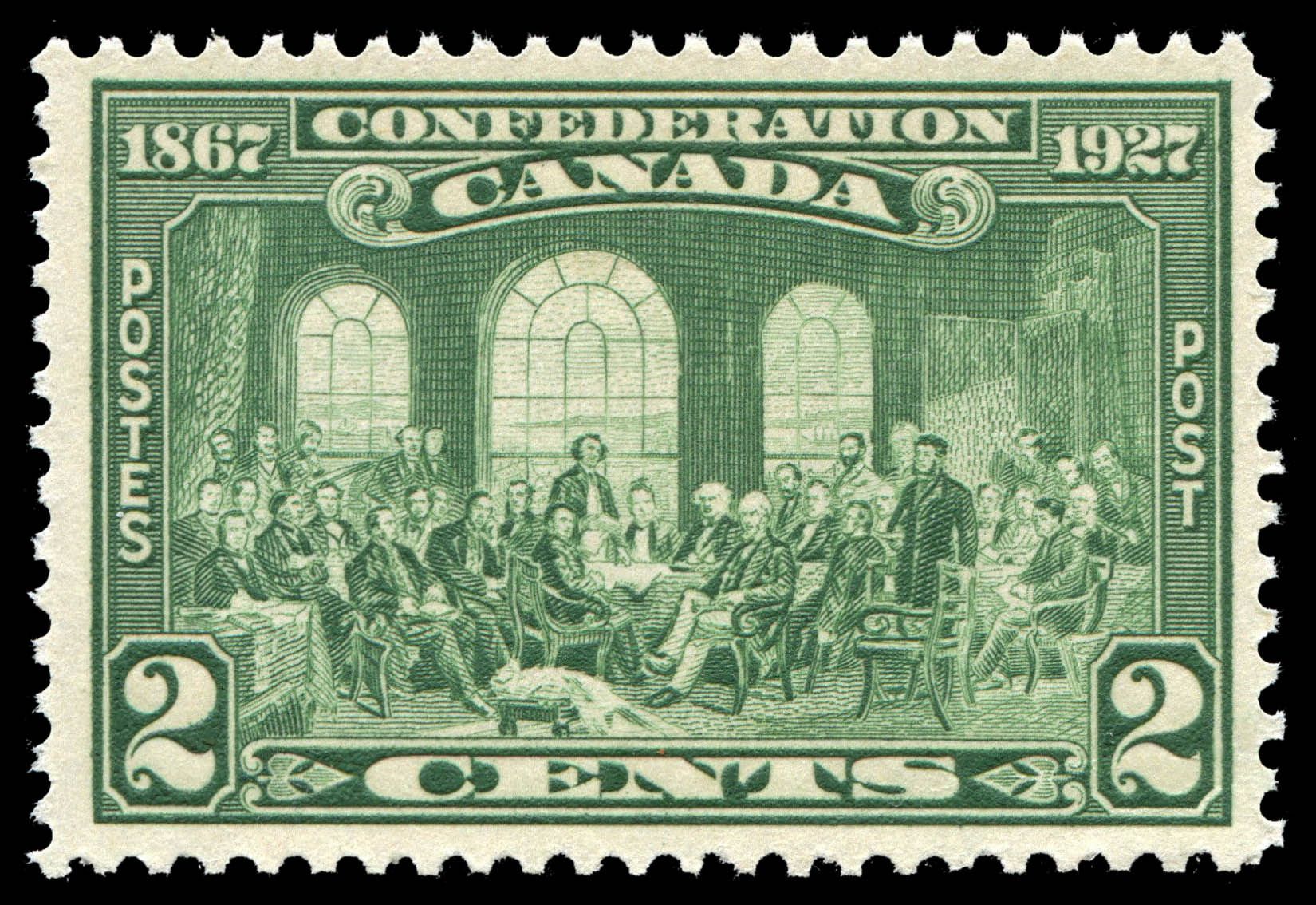 The Fathers of Confederation Canada Postage Stamp