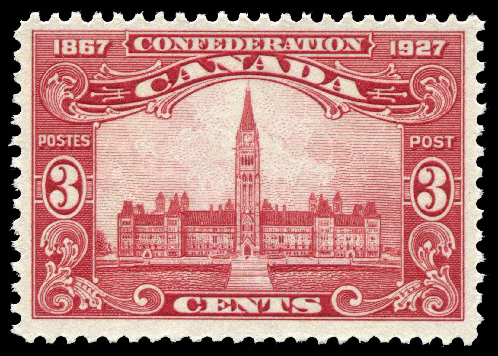 Centre Block of the Parliament Buildings Canada Postage Stamp