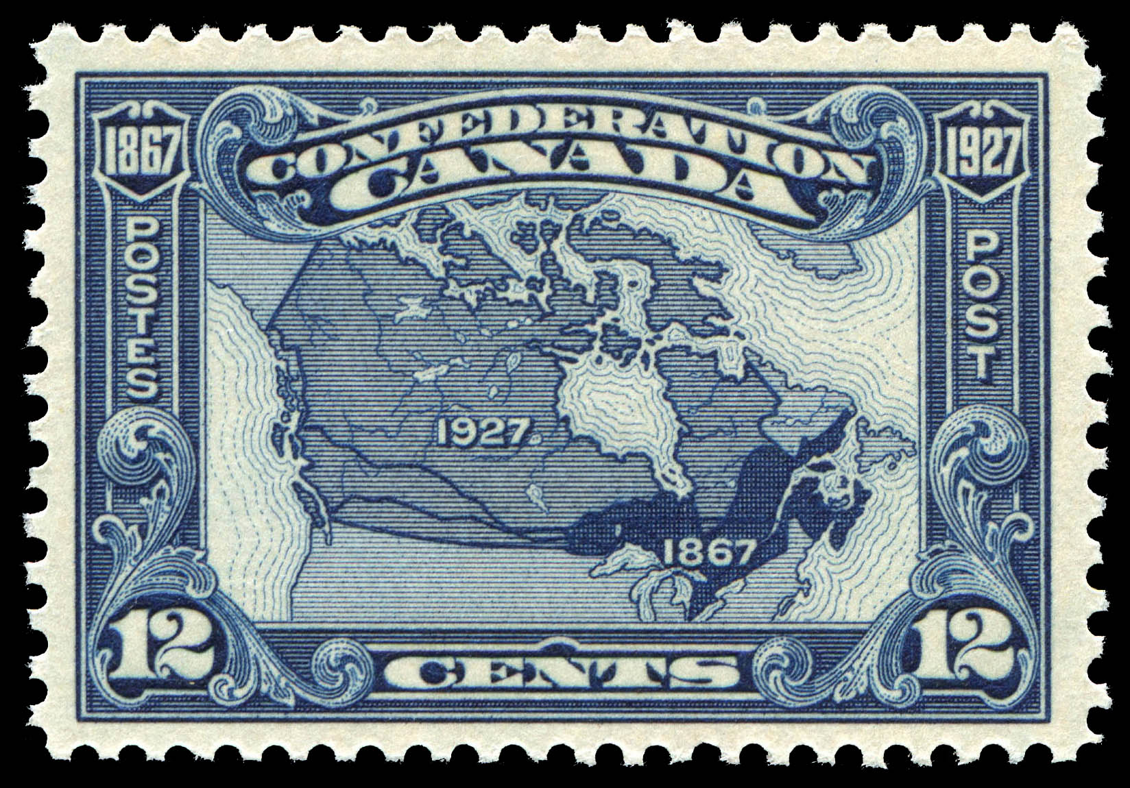 Map of Canada Canada Postage Stamp