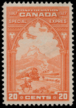 Five stages of mail transportation in Canada, Special Delivery Canada Postage Stamp | Confederation, 1867-1927