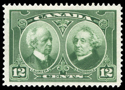 Sir Wilfrid Laurier and Sir John A. Macdonald Canada Postage Stamp