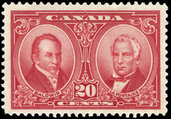 Robert Baldwin and Sir Louis-Hippolyte Lafontaine Canada Postage Stamp