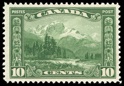 Mount Hurd and the Spesanish (Half-Bear Den) Totem Pole Canada Postage Stamp