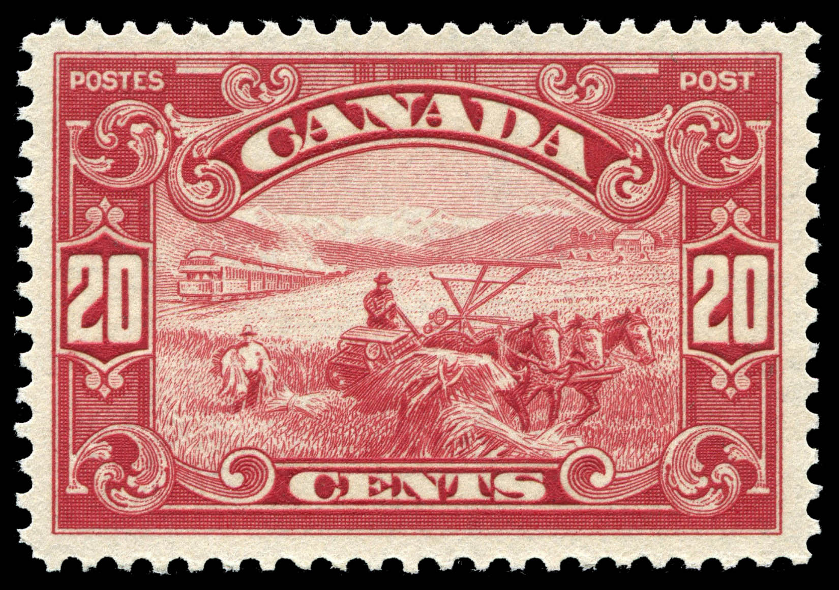 Harvesting Wheat  Canada Postage Stamp