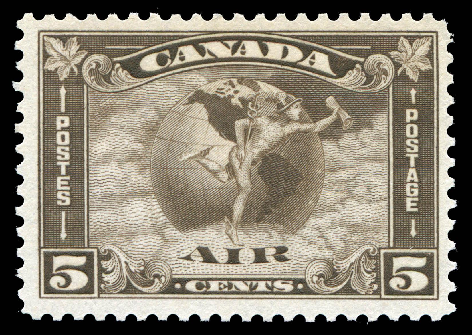 Mercury, Air Canada Postage Stamp