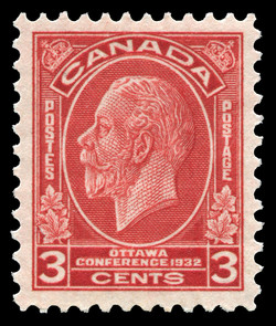 King George V Canada Postage Stamp | Ottawa, Conference, 1932