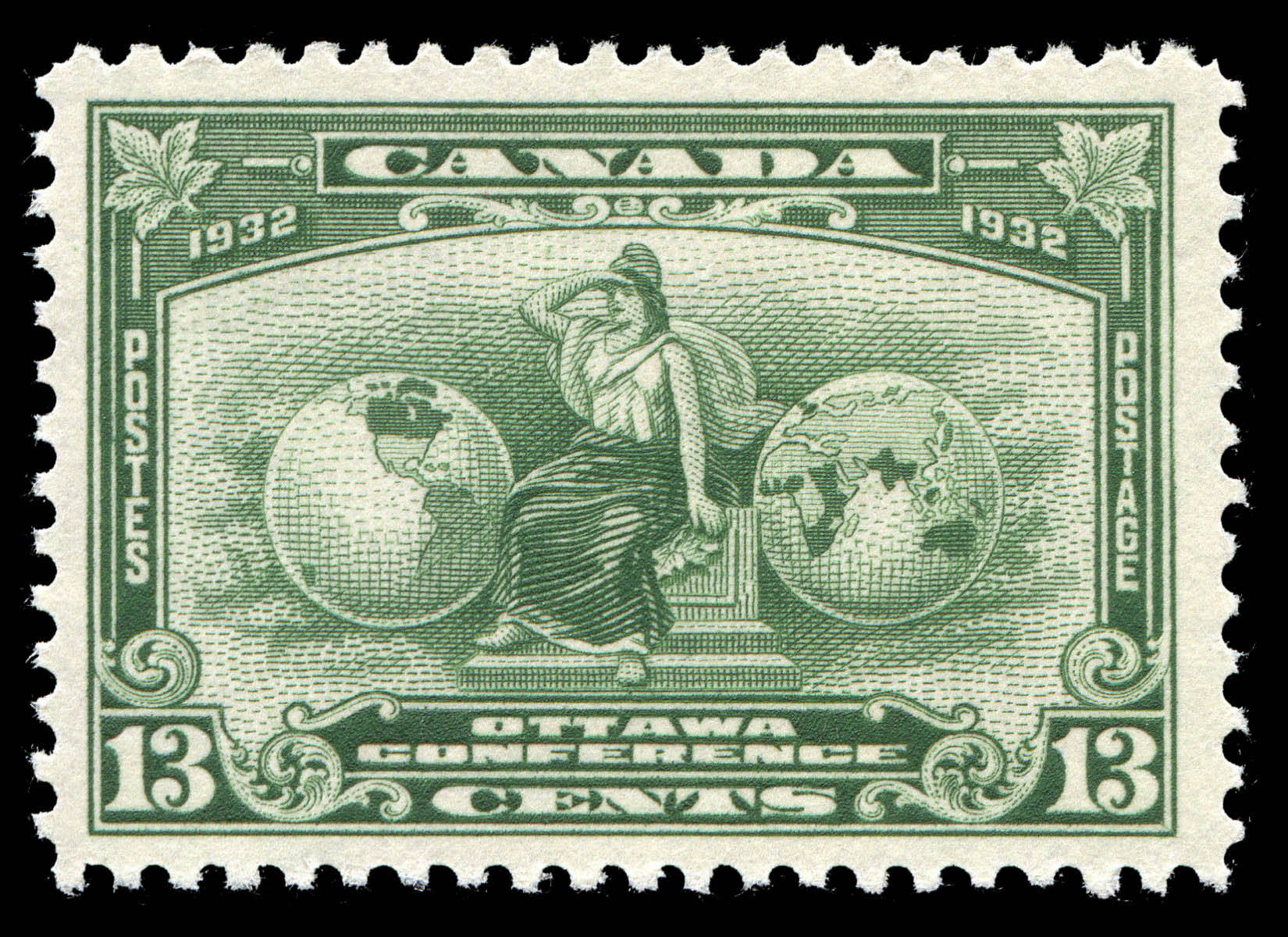 Imperial Allegory Canada Postage Stamp