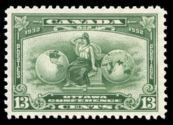 Imperial Allegory Canada Postage Stamp | Ottawa, Conference, 1932