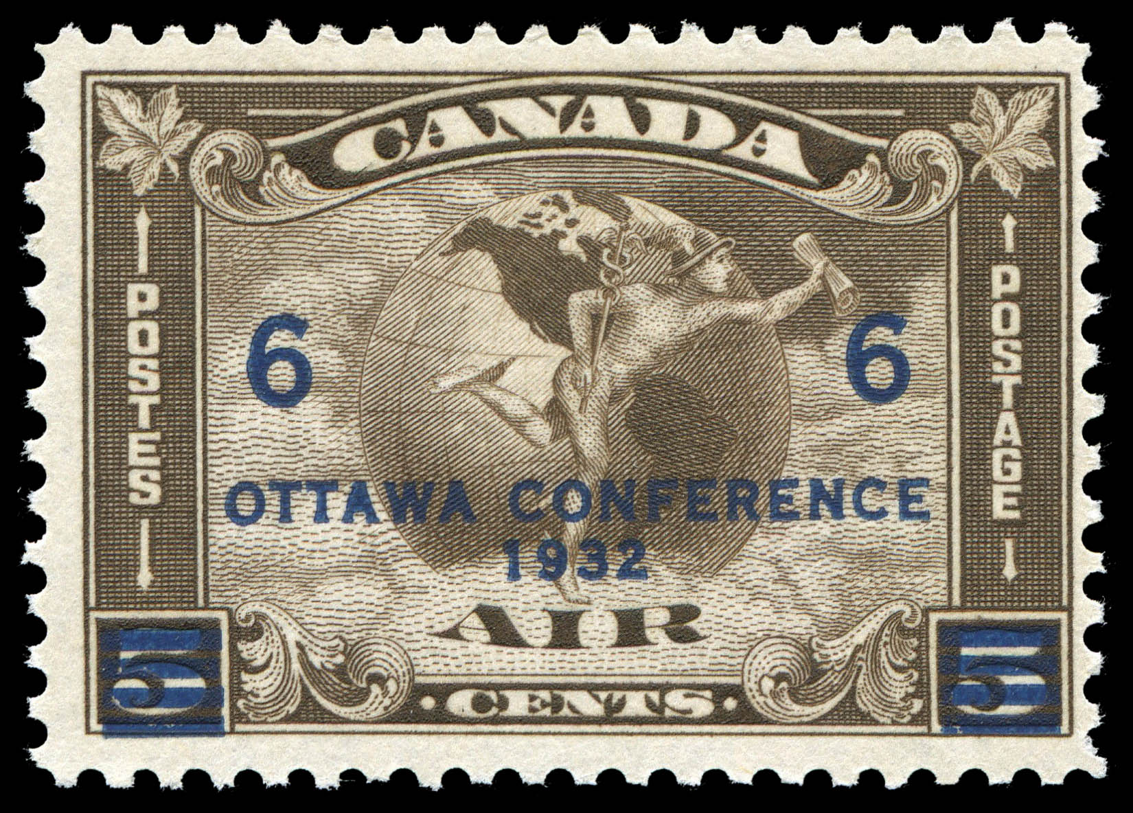 Air, Mercury Canada Postage Stamp | Ottawa, Conference, 1932