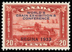 World's Grain Exhibition & Conference, Regina, 1933 Canada Postage Stamp