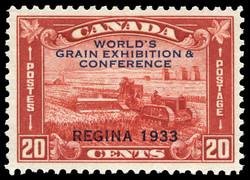 World's Grain Exhibition & Conference, Regina, 1933 Canada Postage Stamp