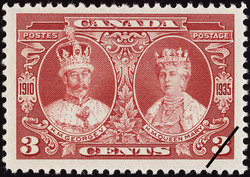 H.M. George V & H.M. Queen Mary Canada Postage Stamp