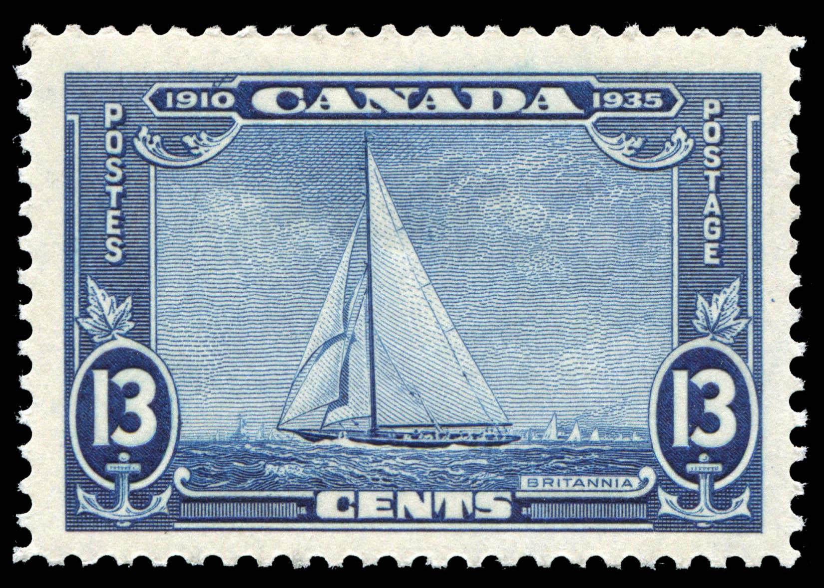 Britannia Canada Postage Stamp