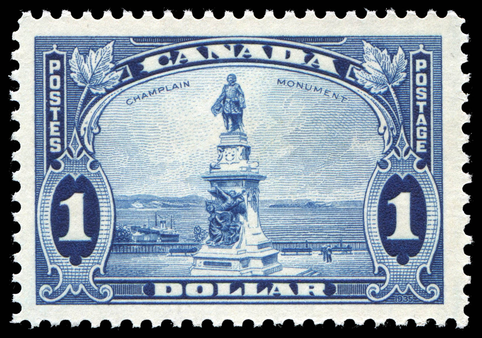 Champlain Monument Canada Postage Stamp
