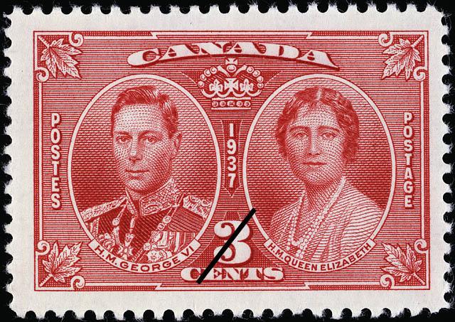 H.M. George VI & H.M. Queen Elizabeth Canada Postage Stamp