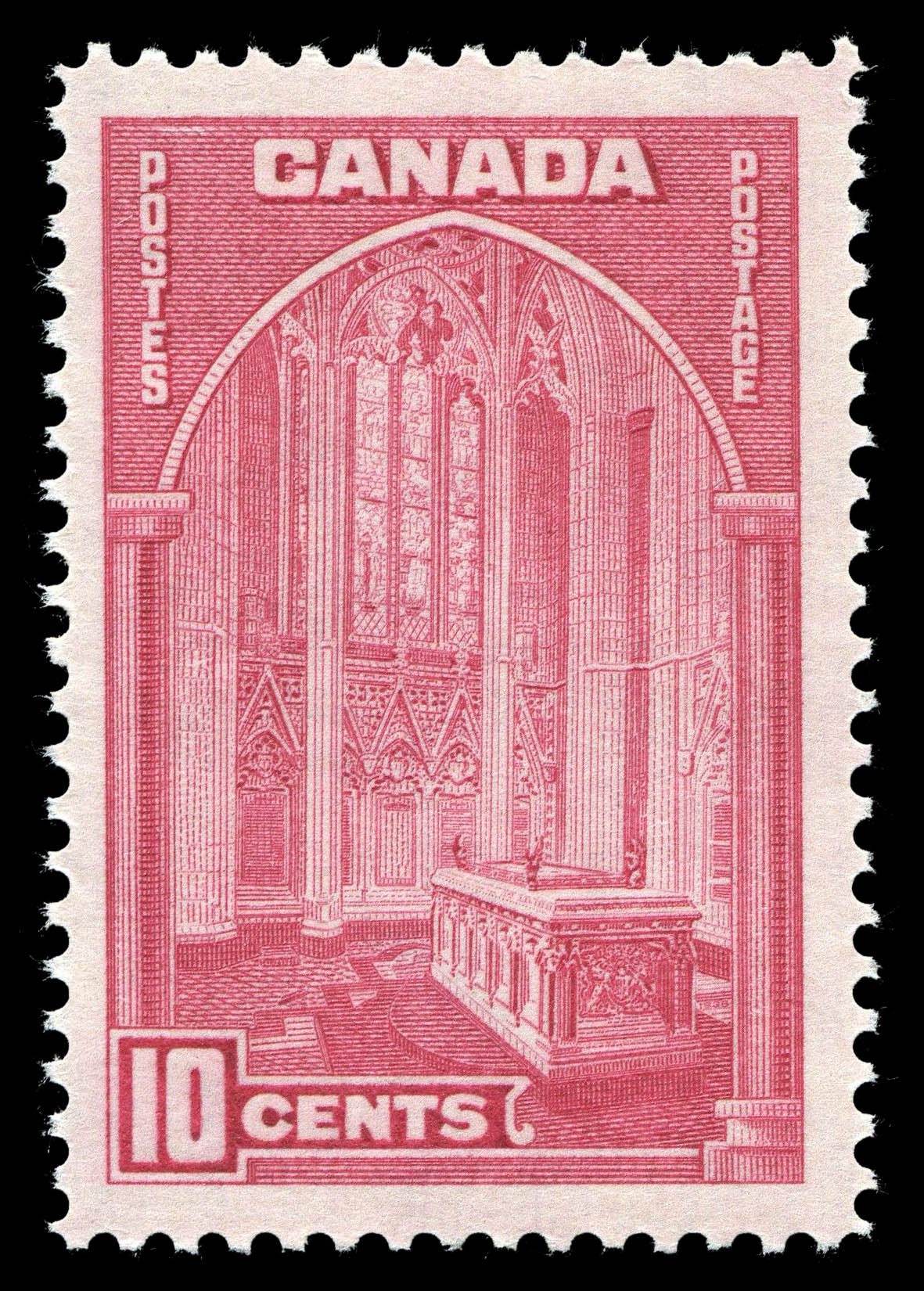 Memorial Chamber, Parliament Buildings, Ottawa Canada Postage Stamp