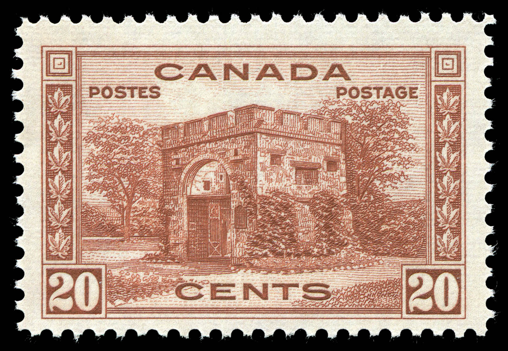Fort Garry Gate, Winnipeg Canada Postage Stamp