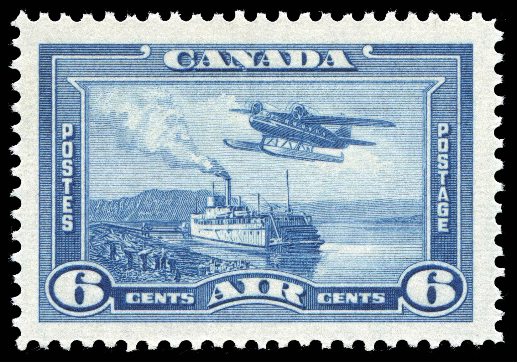 Mackenzie River, Northwest Territories, Air Canada Postage Stamp