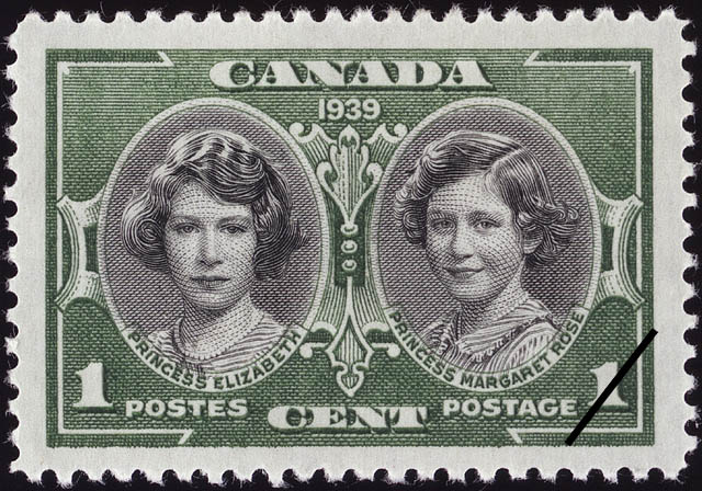 Princess Elizabeth & Princess Margaret Rose Canada Postage Stamp