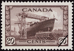 Corvette Ready for Launching Canada Postage Stamp