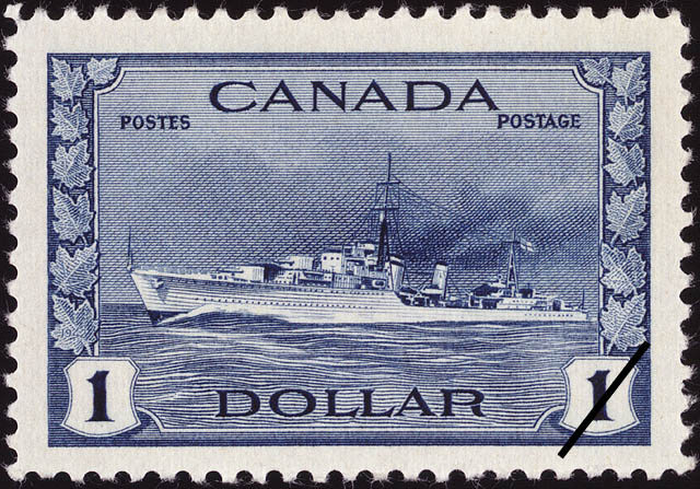 Destroyer, Royal Canadian Navy Canada Postage Stamp