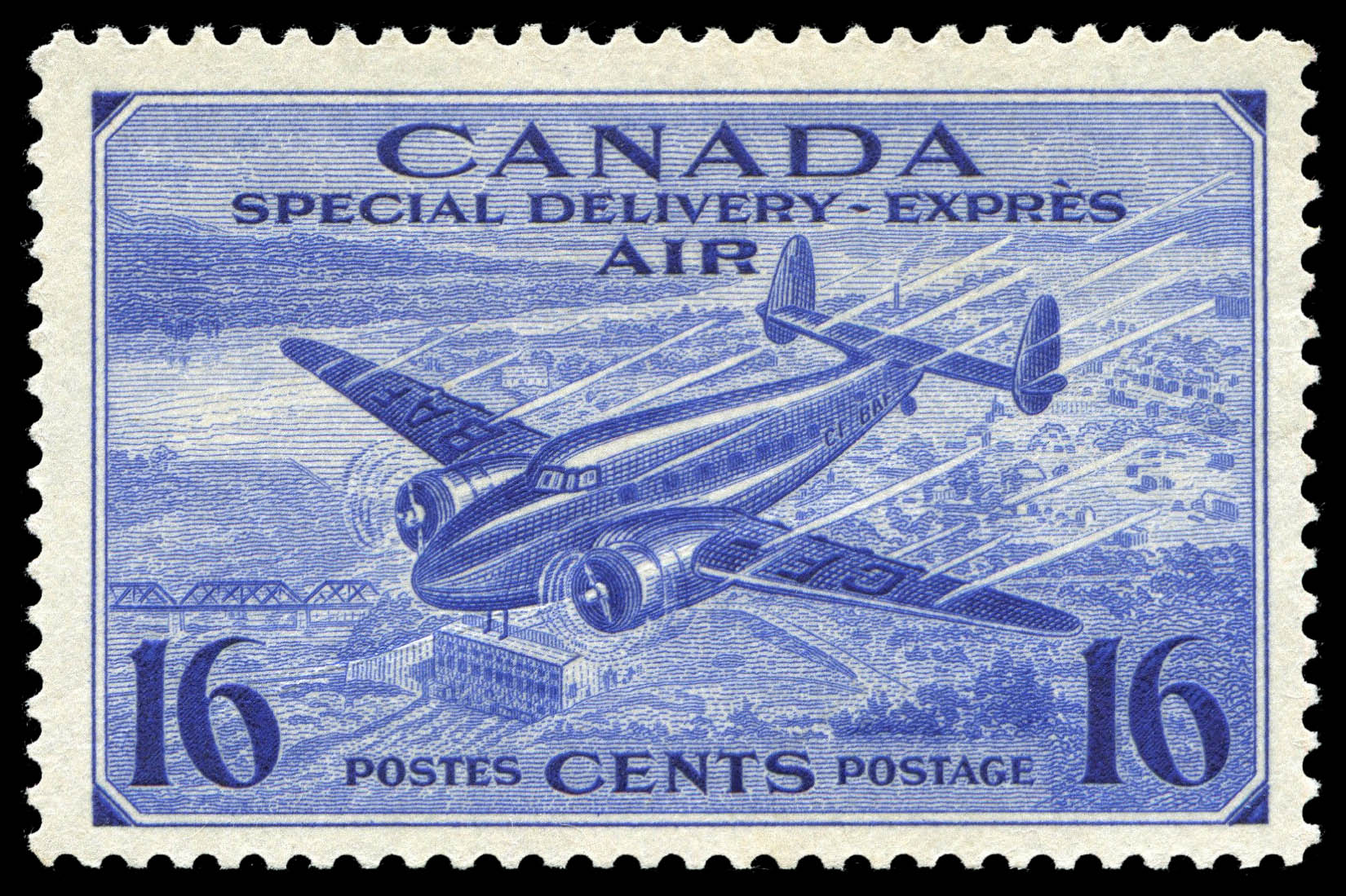 Trans-Canada Airplane, Air, Special Delivery Canada Postage Stamp