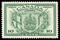Canadian Coat of Arms, Special Delivery Canada Postage Stamp