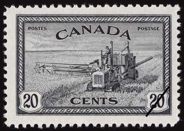 Combined Reaper and Thresher, Canadian Prairies Canada Postage Stamp