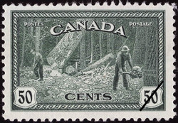 Logging - British Columbia Canada Postage Stamp