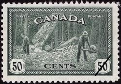 Logging - British Columbia Canada Postage Stamp