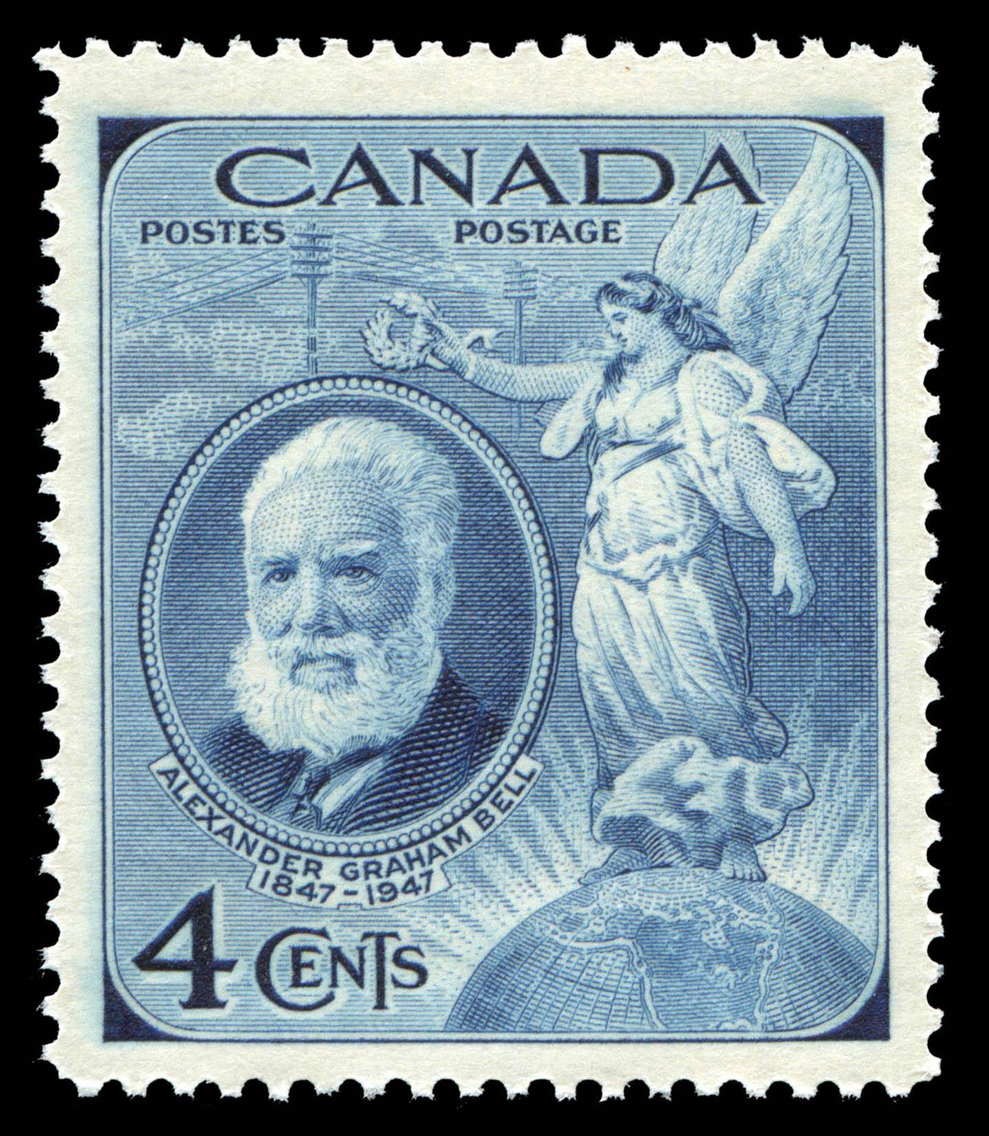 Alexander Graham Bell, 1847-1947 Canada Postage Stamp