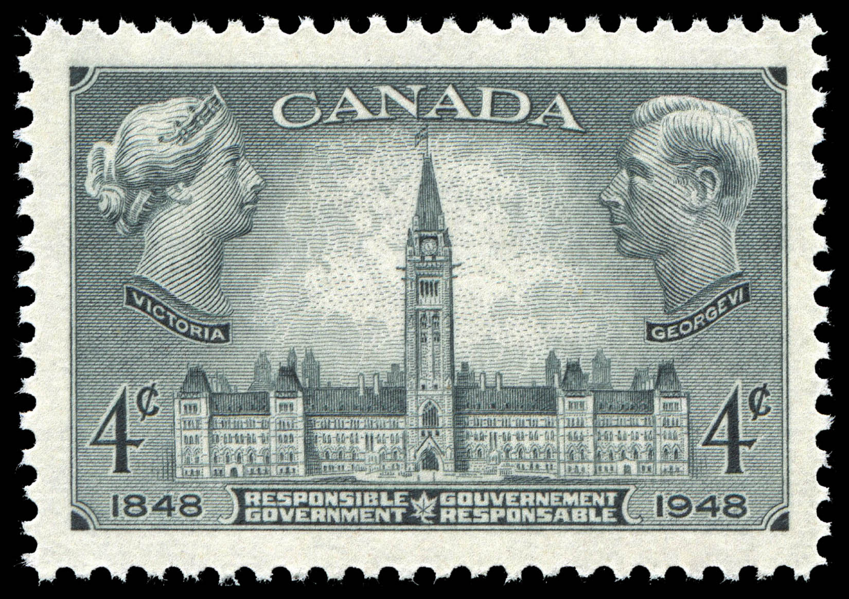 Responsible Government, 1848-1948 Canada Postage Stamp