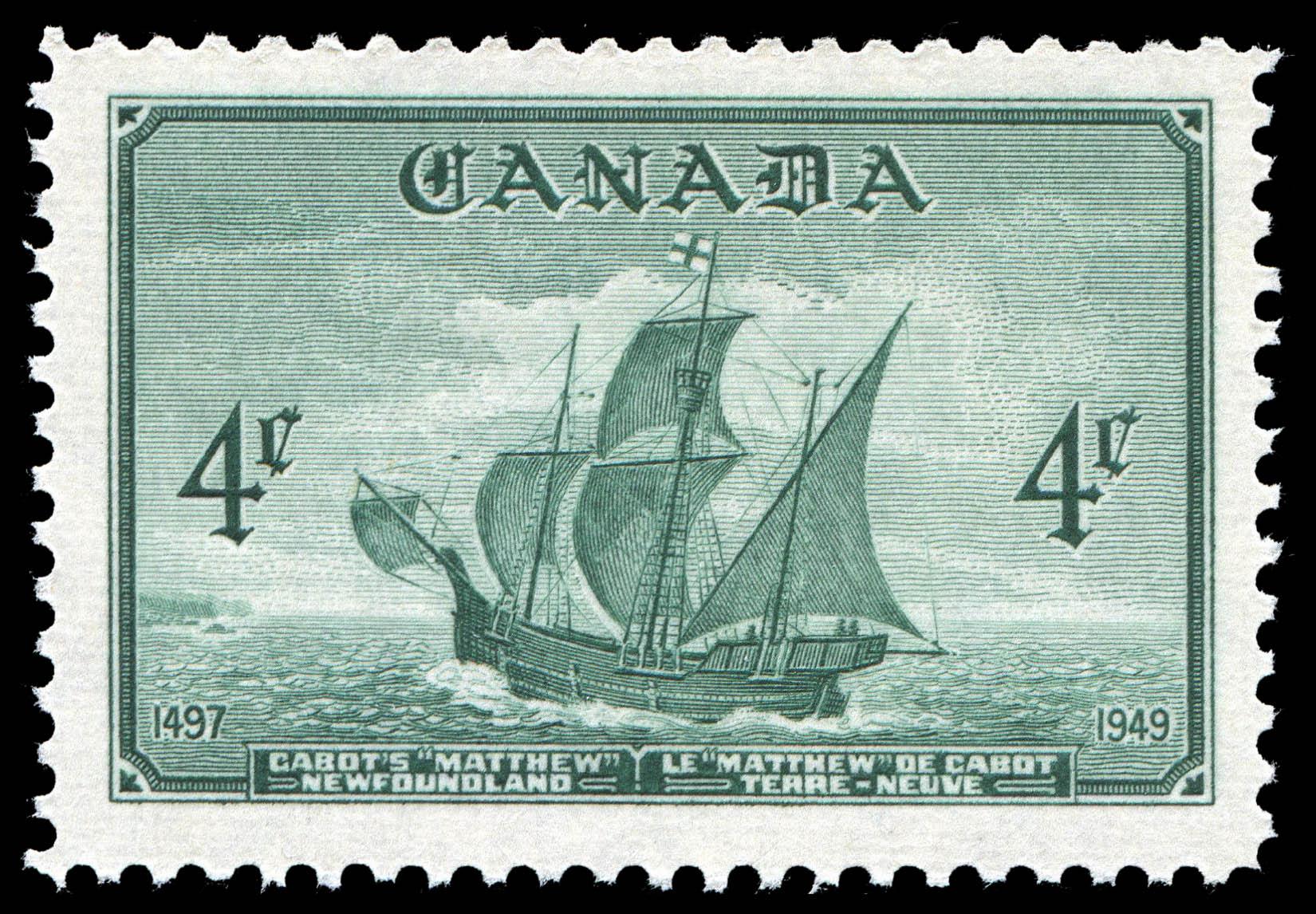 "Cabot's ""Matthew"", Newfoundland, 1497-1949 Canada Postage Stamp"