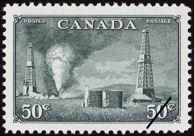 Oil Development, Western Canada Canada Postage Stamp