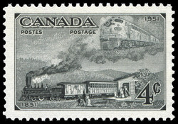 Trains of 1851 & 1951  Postage Stamp