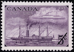 Ships of 1851 & 1951 Canada Postage Stamp | Centennial of British North American Postal Administration
