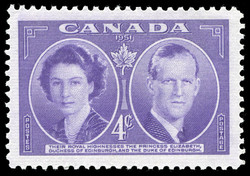 Their Royal Highnesses the Princess Elizabeth, Duchess of Edinburgh, and the Duke of Edinburgh Canada Postage Stamp