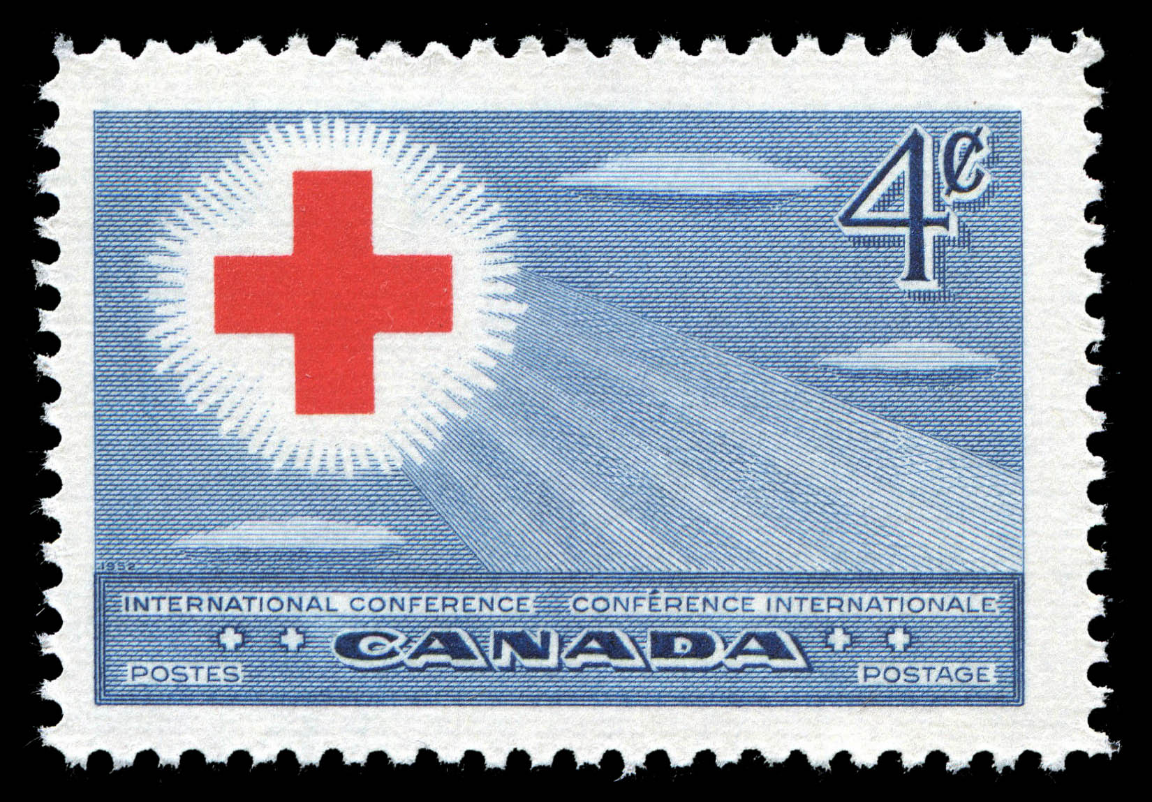 International Red Cross Conference Canada Postage Stamp